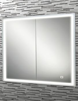 HIB Vanquish 60 Double Door LED Demisting Recessed Cabinet 630 x 730mm