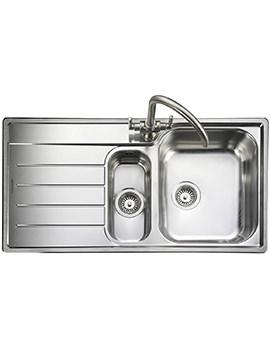 Rangemaster Oakland 1.5 Bowl Stainless Steel Kitchen Sink With LH Drainer