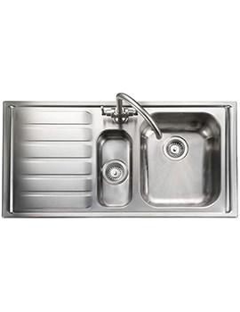 Rangemaster Manhattan 1.5 Bowl Stainless Steel Kitchen Sink LH Drainer