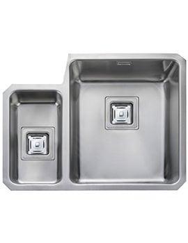 Rangemaster Atlantic Quad 1.5 Bowl Left Hand Undermount Kitchen Sink