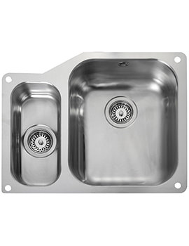 Rangemaster Atlantic Classic 1.5 Bowl Undermount Kitchen Sink Small Bowl