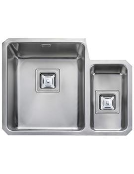 Rangemaster Atlantic Quad 1.5 Bowl Right Hand Undermount Kitchen Sink