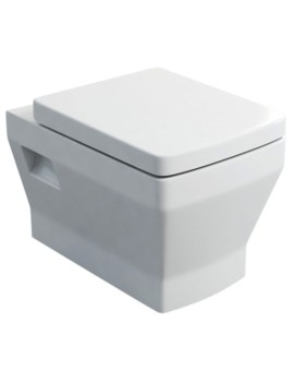 Britton Cube S20 Wall Hung WC And Carbamide Soft Close Seat