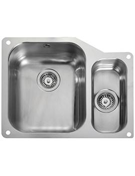 Rangemaster Atlantic Classic 1.5 Bowl Undermount Kitchen Sink RH Small Bowl