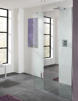 Lakes Cannes Mirror Glass Walk-In Shower Panel