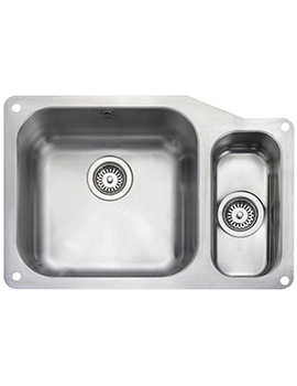 Rangemaster Atlantic Classic 1.5 Bowl Undermount Kitchen Sink 671mm RH