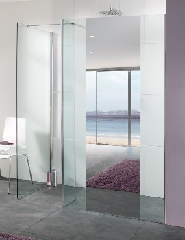 Lakes Palma Mirror Glass Shower Panel Only