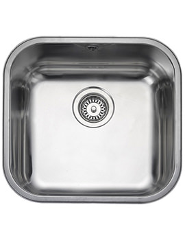 Rangemaster Atlantic Classic 1 Bowl Stainless Steel Undermount Sink 460mm