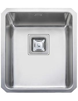 Rangemaster Atlantic Quad 390x450mm Stainless Steel Undermount Kitchen Bowl