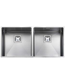 Rangemaster Atlantic Kube 2 Bowl Stainless Steel Undermount Kitchen Sink