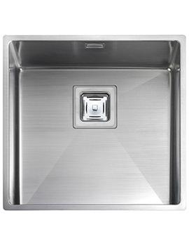 Rangemaster Atlantic Kube 1 Bowl  430 x 430mm Undermount Kitchen Sink