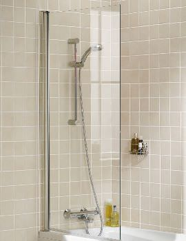 Lakes Classic Square Bath Screen Single Panel 8mm Glass - W 800 x 1500mm
