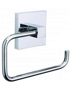 Croydex Brompton Flexi-Fix Chrome Plated Toilet Roll Holder