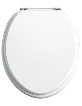 Heritage Soft Close White Ash WC Seat And Cover With Chrome Hinge