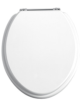 Heritage Soft Close Gloss White WC Seat And Cover With Chrome Hinge
