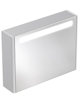 Ideal Standard Softmood 800 x 600mm Mirror Cabinet With Light
