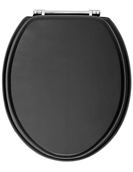 Heritage Soft Close Graphite WC Seat And Cover With Chrome Hinge