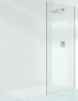 Merlyn 10 Series 10mm Glass Wetroom Panel With Wall Profile 1000mm Wide