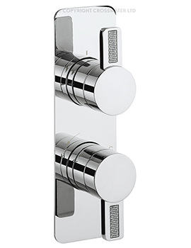 Crosswater Glitter Recessed Thermostatic Shower Valve With 2 Way Diverter