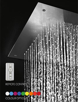 Crosswater Luxury 380 x 380mm Chromotherapy Illuminated LED Shower Head
