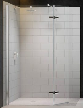Merlyn 8 Series Showewall With Hinged Swivel Panel