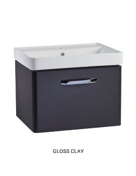 Tavistock Compass Wall Mounted Vanity Unit 600mm With Basin