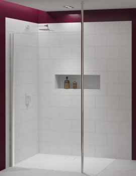 Merlyn 8 Series Showerwall With Vertical Post
