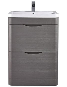 Premier Eclipse 600mm 2 Drawer Floor Standing Cabinet And Basin