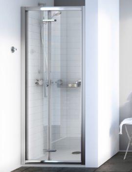 Aqualux Origin 6 1900mm High Bi-Fold Shower Door Polished Silver