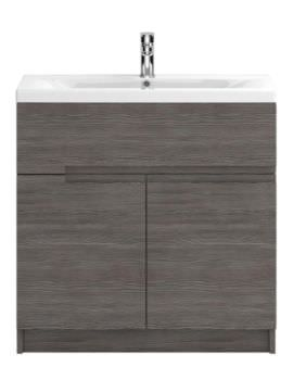 Hudson Reed Urban 800mm Grey Brown Avola Floor Standing Unit With Basin