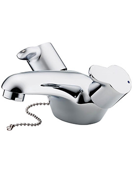Ideal Standard Elements Lever Dual Control Basin Mixer With Weighted Chain