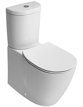 Ideal Standard Concept Arc Aquablade Close Coupled Back-To-Wall WC Pan 665mm