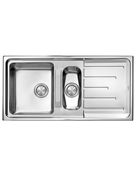 Crosswater Design 1000 x 500mm Stainless Steel 1.5 Bowl Inset Kitchen Sink