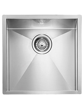 Crosswater Design 450 x 450mm Stainless Steel 1.0 Bowl Undermount Sink
