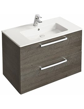 Ideal Standard Tempo 800mm Wall Mounted 2 Drawers Vanity Unit