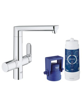 Grohe Blue Single Lever Kitchen Sink Mixer Tap With Starter Kit Chrome