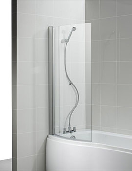 Ideal Standard Alto 813-828 x 1419mm Curved Shower Bath Screen
