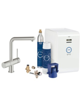 Grohe Blue Minta Kitchen Sink Mixer Tap With Professional Starter Kit Supersteel