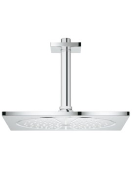 Grohe Rainshower F-Series Shower Head With 142mm Ceiling Arm