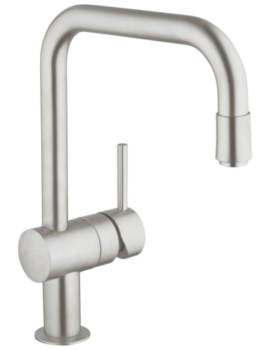 Grohe Minta Kitchen Sink Mixer Tap With Pull-Down Spray Head Supersteel