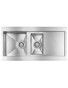 Crosswater Svelte 1000 x 520mm Stainless Steel 1.5 Bowl Inset Kitchen Sink