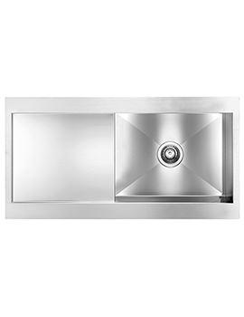 Crosswater Svelte 1000 x 520mm Stainless Steel 1.0 Bowl Inset Kitchen Sink