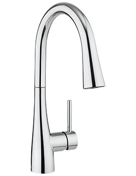 Crosswater Cucina Cook Side Lever Sink Mixer Tap With Dual Function Spray
