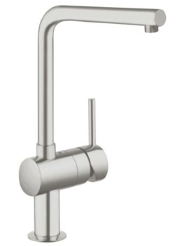 Grohe Minta L Spout Kitchen Sink Mixer Tap Supersteel