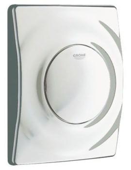 Grohe Surf Wall Mounted Flush Plate Matt Chrome