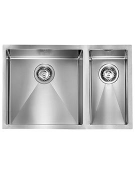 Crosswater Svelte 690 x 450mm Stainless Steel 1.5 Bowl Undermount Sink