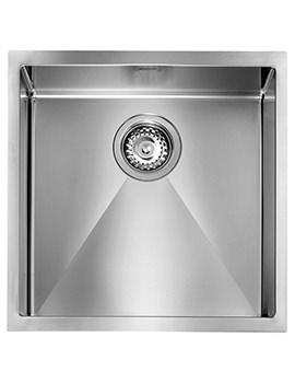 Crosswater Svelte 450 x 450mm Stainless Steel 1.0 Bowl Undermount Sink
