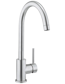 Crosswater Cucina Tropic Side Lever Brushed Stainless Steel Sink Mixer Tap