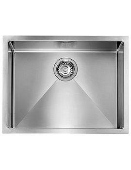 Crosswater Svelte 570 x 450mm Stainless Steel 1.0 Bowl Undermount Sink