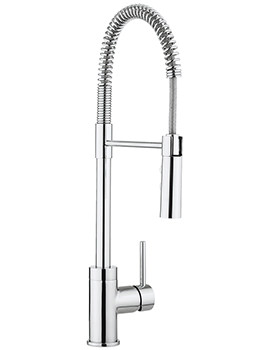 Crosswater Cucina Cook Single Lever Kitchen Sink Mixer Tap With Flexi Spray